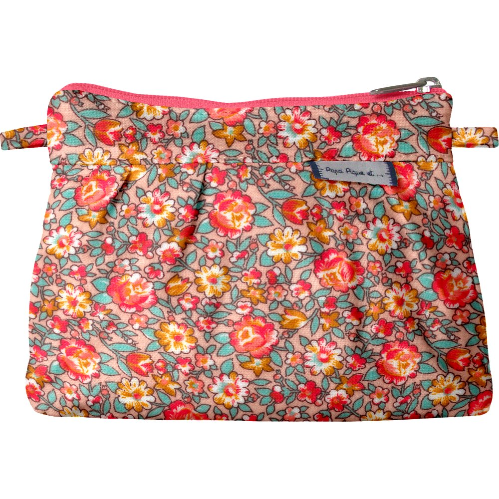 Mini Pleated clutch bag peach flower