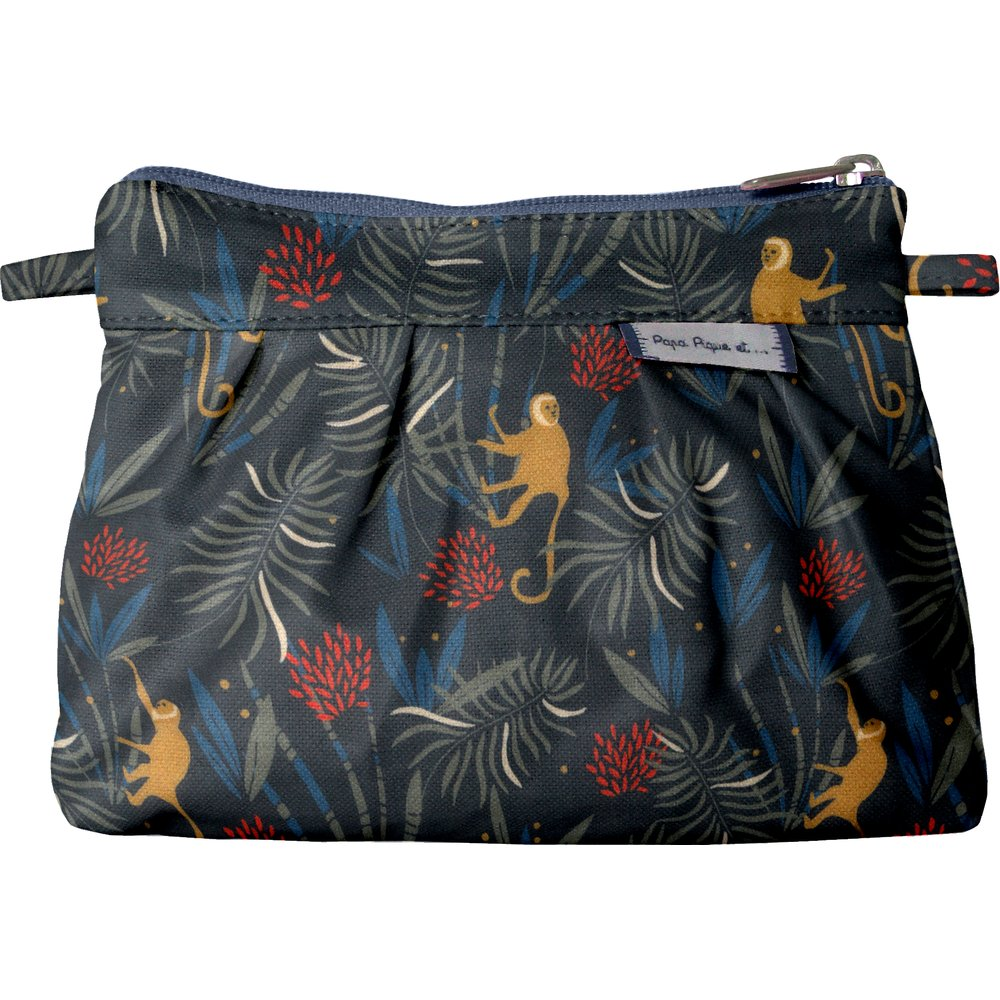 Mini Pleated clutch bag jungle party