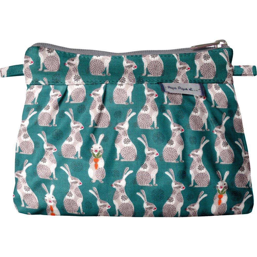 Mini Pleated clutch bag bunny