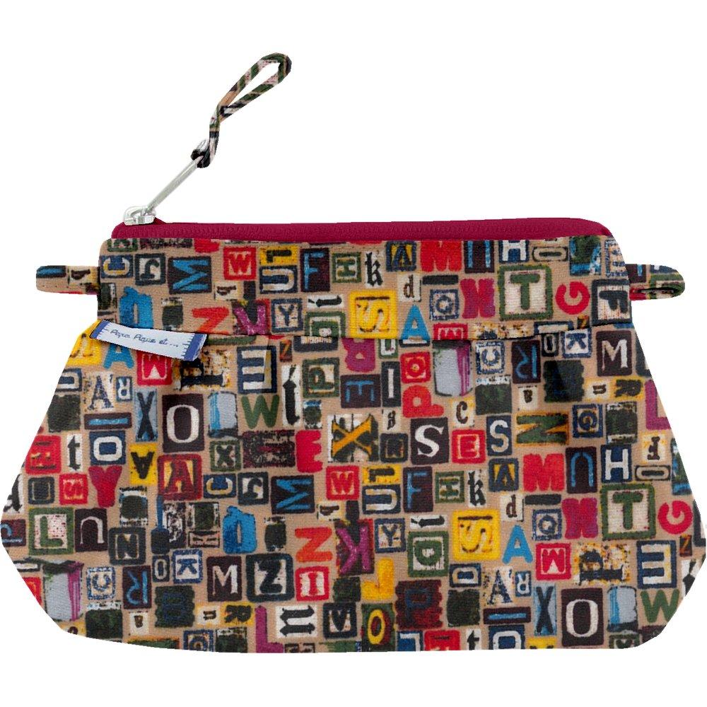 Mini Pleated clutch bag multi letters