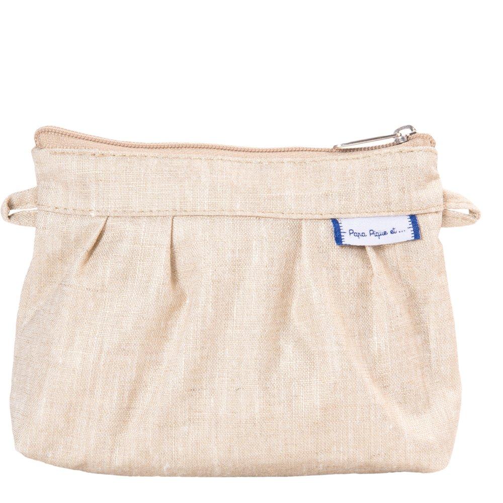Mini Pleated clutch bag  glitter linen