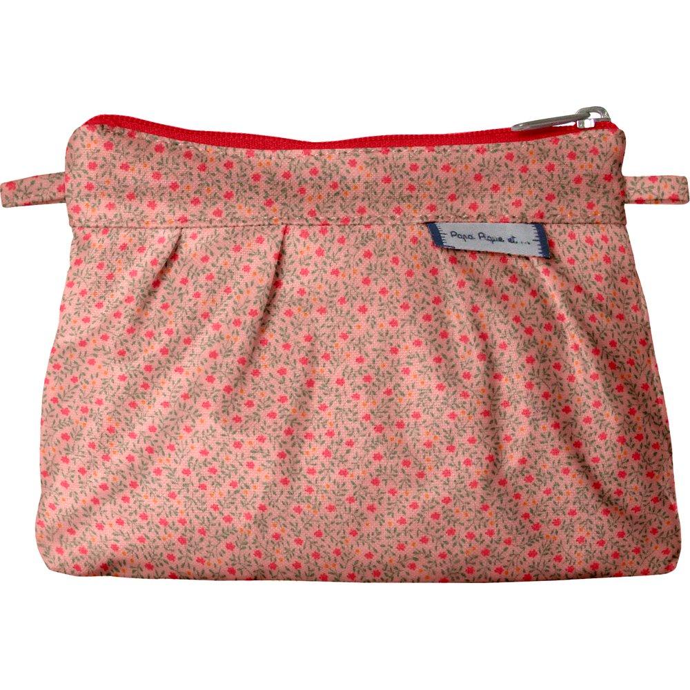 Mini Pleated clutch bag mini pink flower