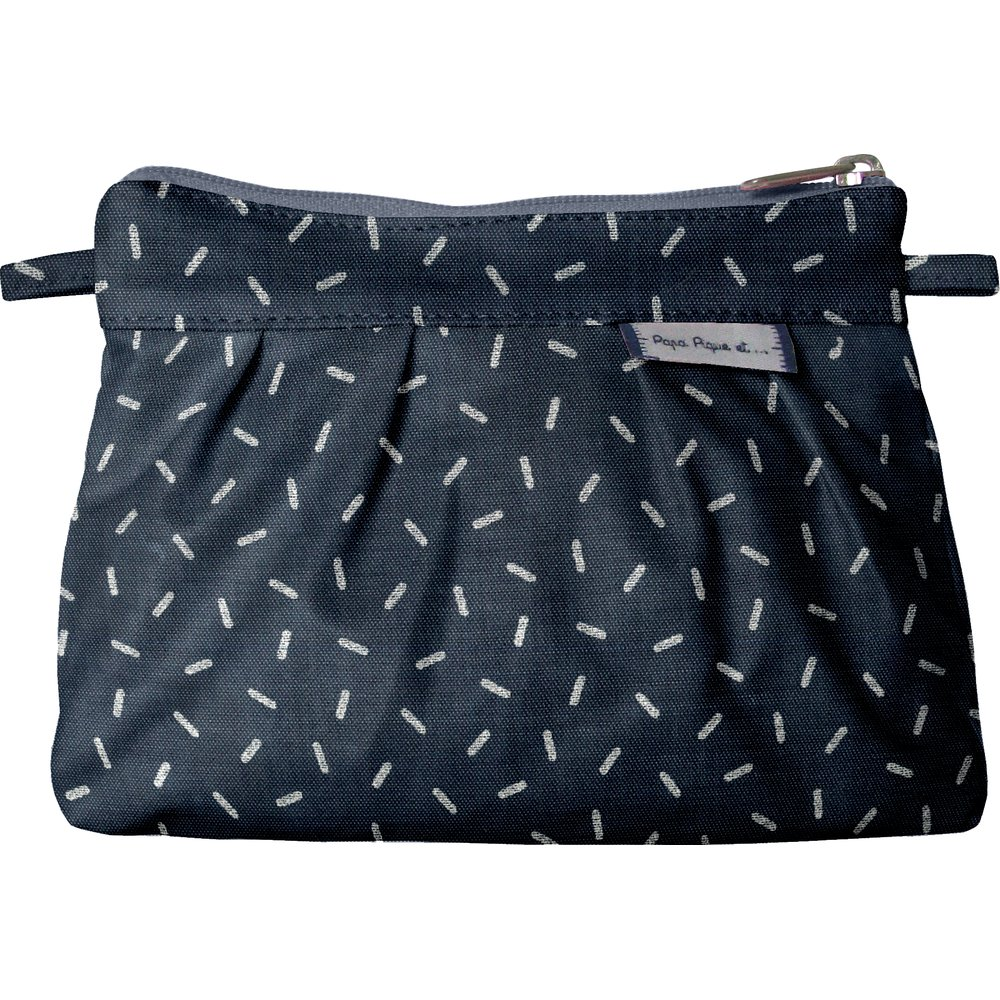 Mini Pleated clutch bag silver straw jeans