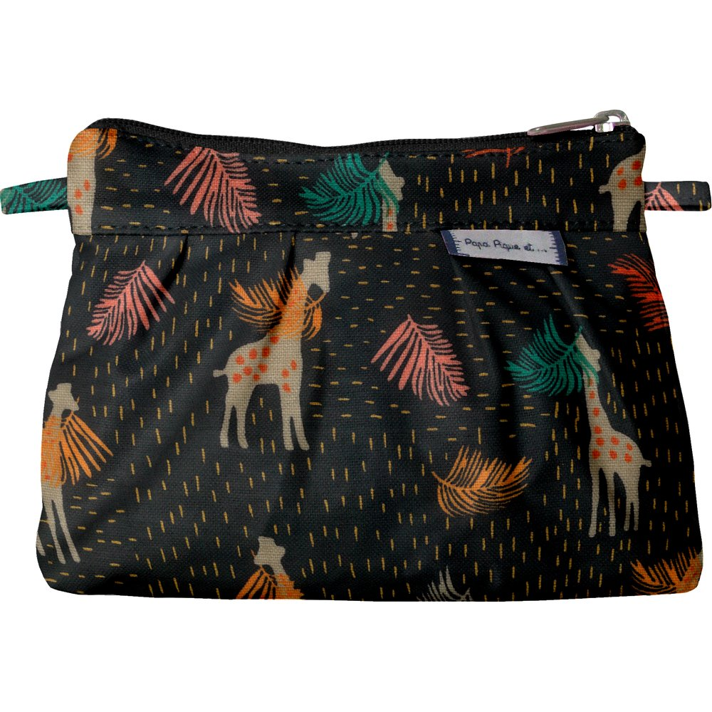 Mini Pleated clutch bag palma girafe