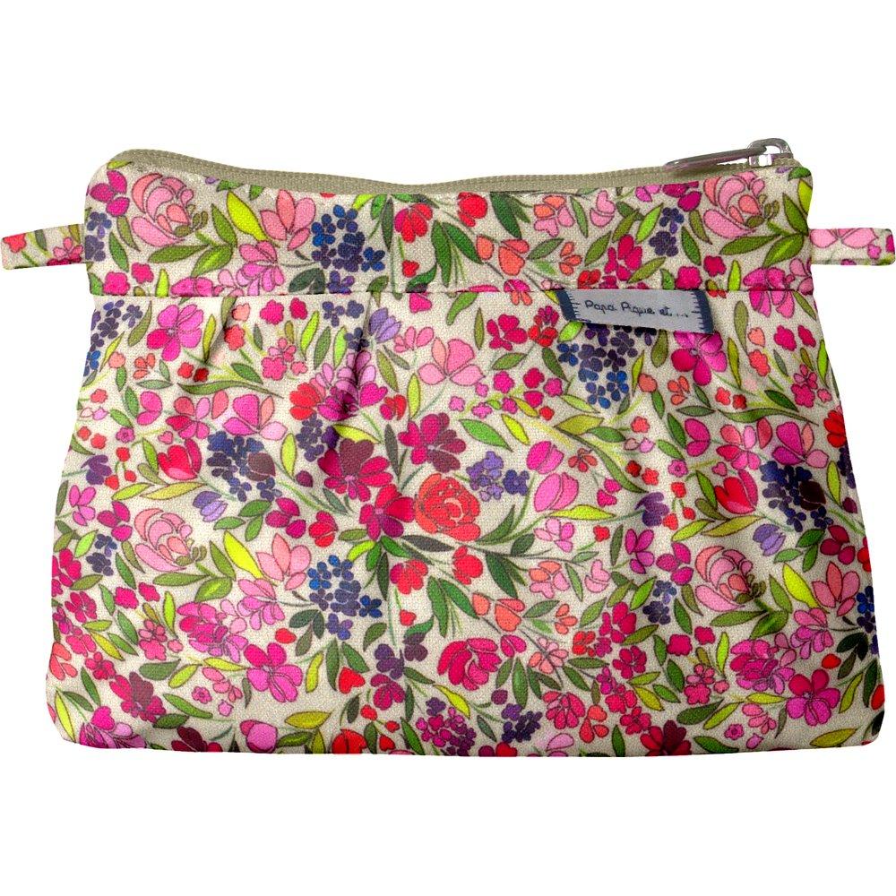 Mini Pleated clutch bag purple meadow
