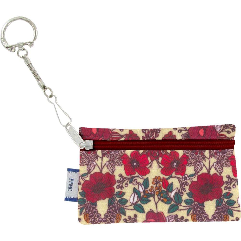 Pochette porte-clés coquelicot