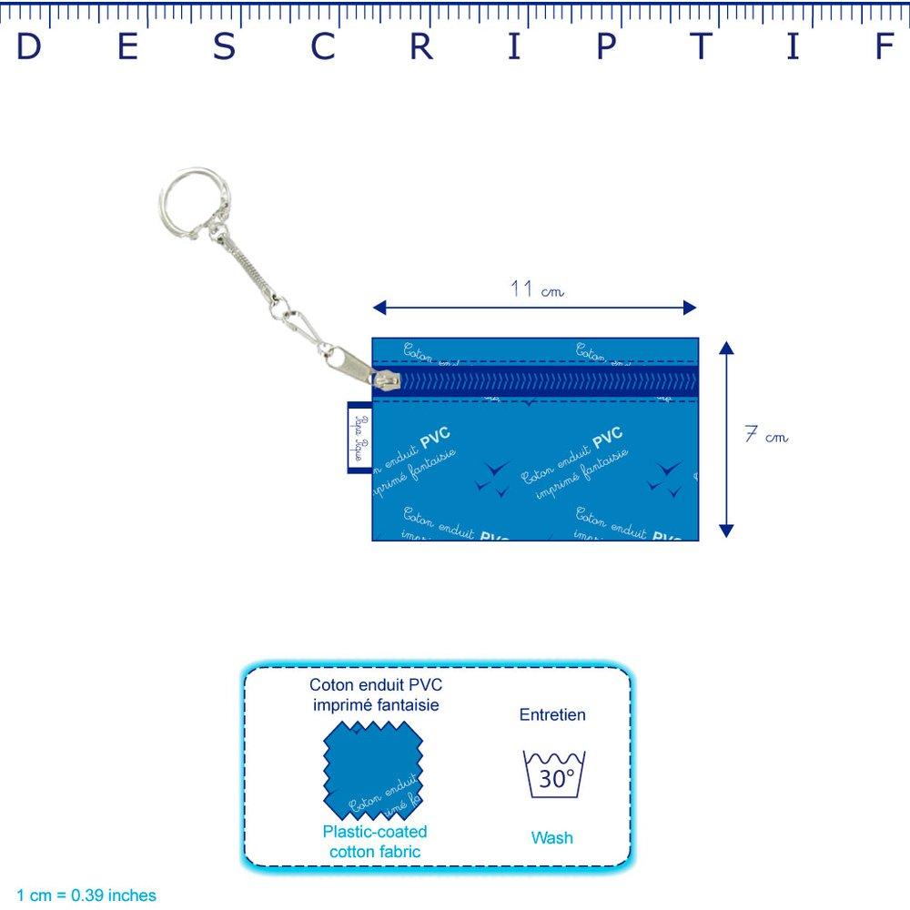 Pochette porte-clés etoile anisée