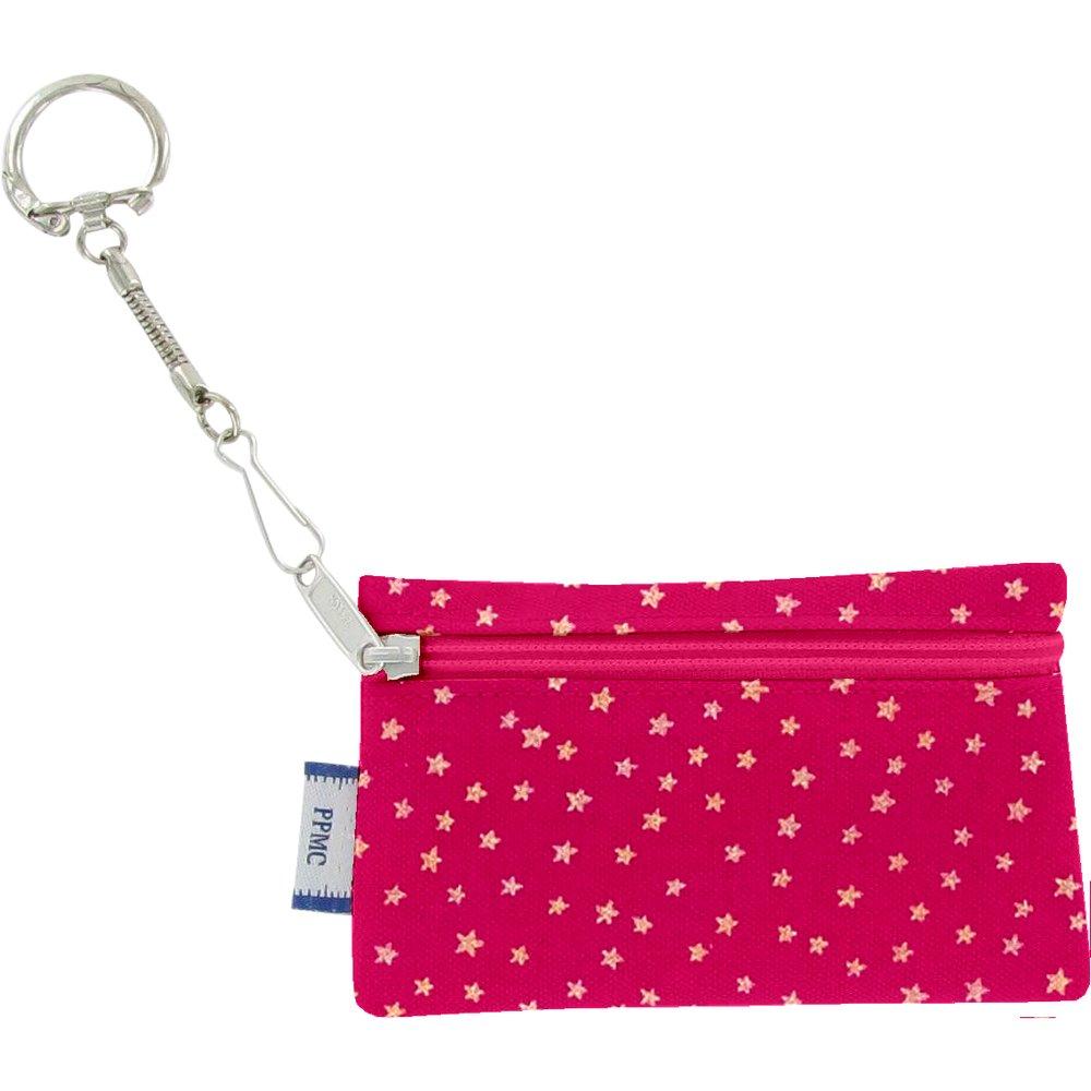 Keyring  wallet etoile or fuchsia