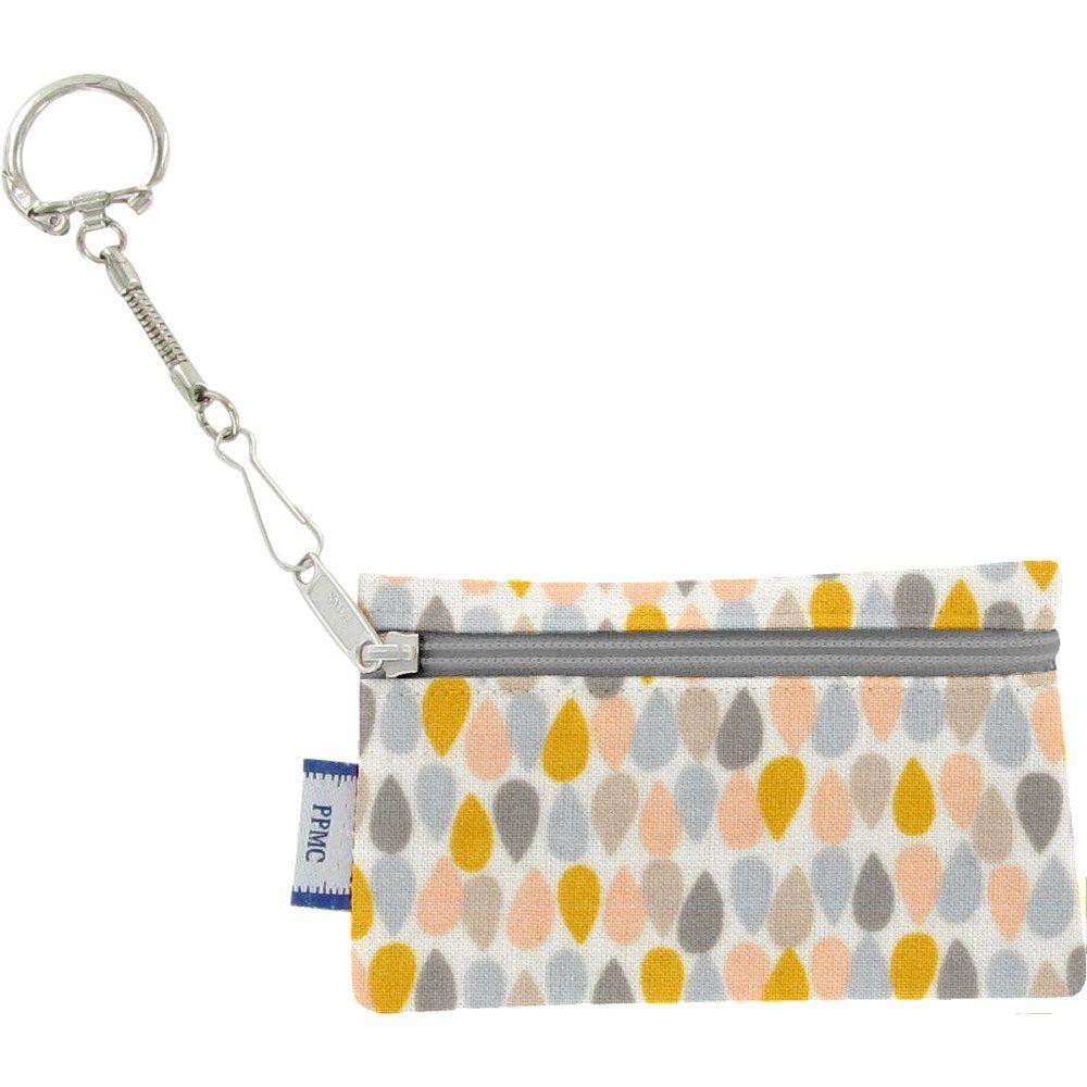 Pochette porte-clés gouttes pastel