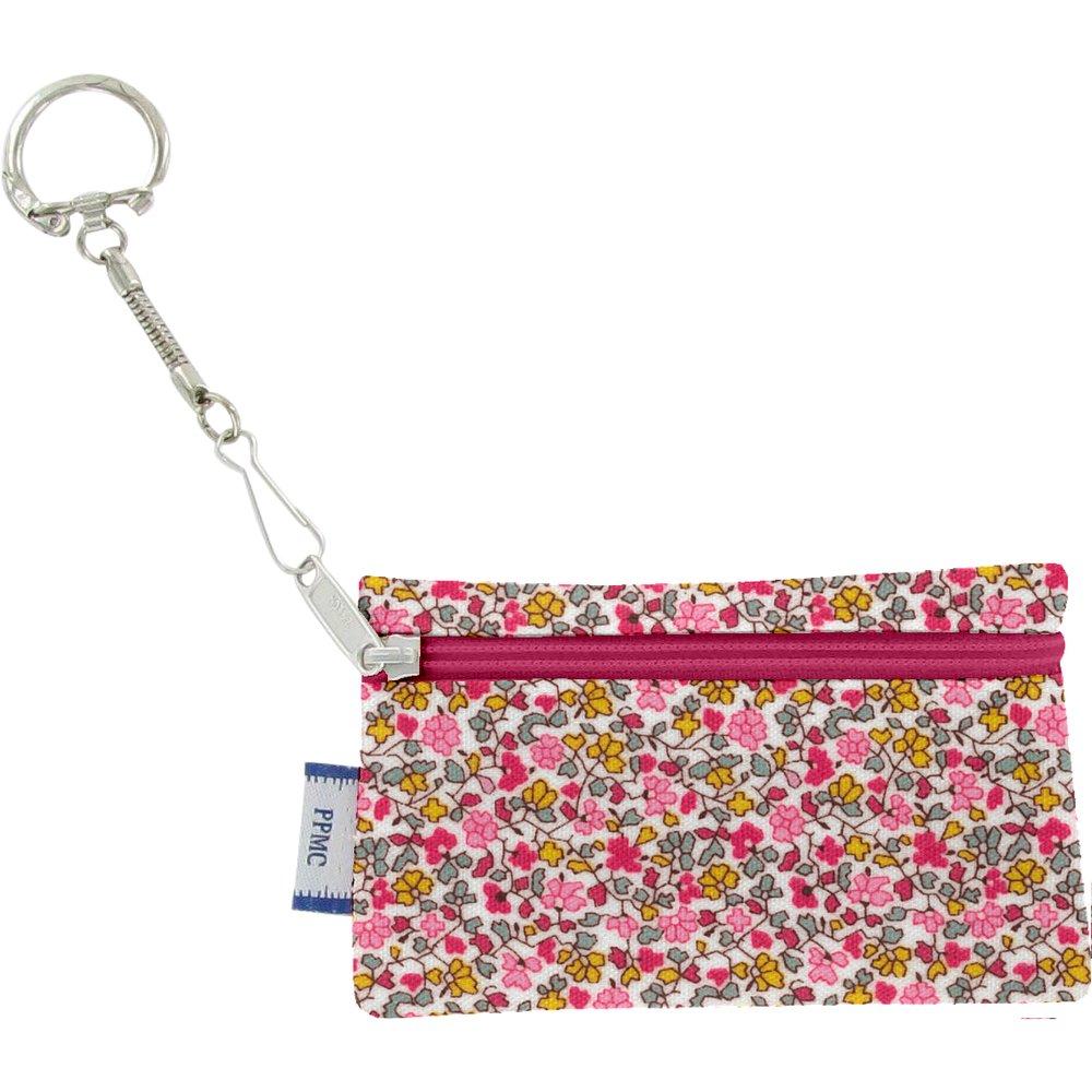 Pochette porte-clés jasmin rose