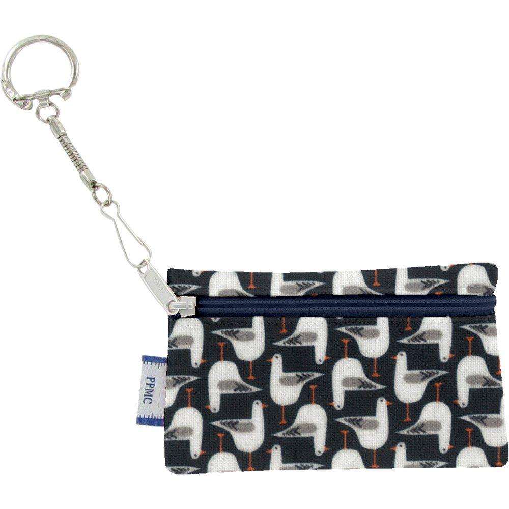 Pochette porte-clés mouettes rieuses