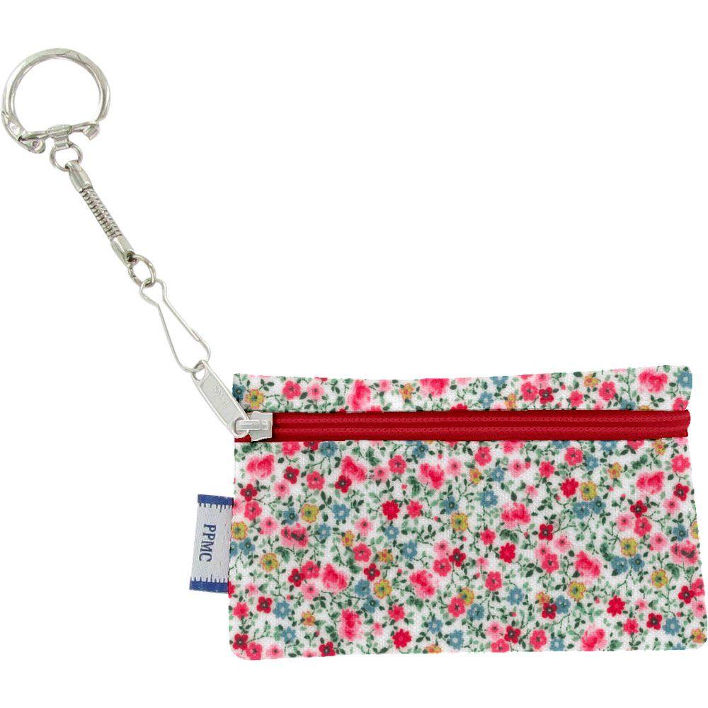 Pochette porte-clés  roseraie