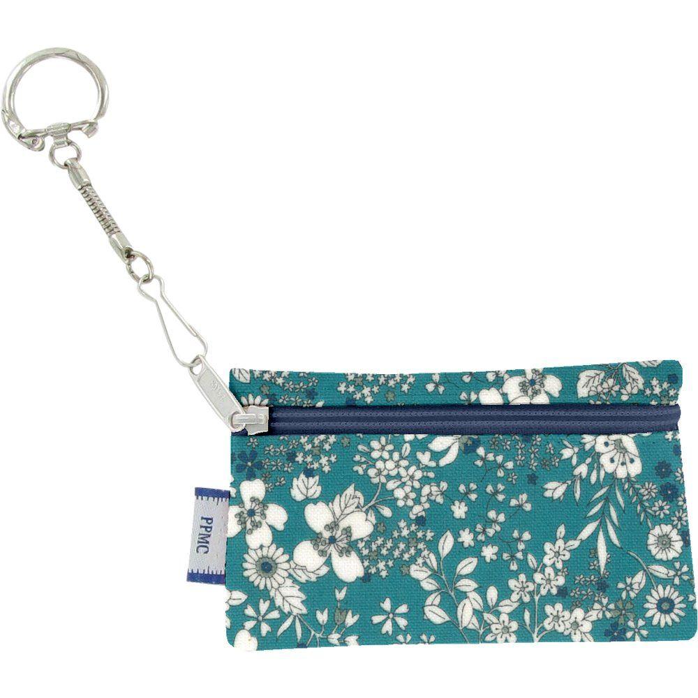 Pochette porte-clés violette céladon