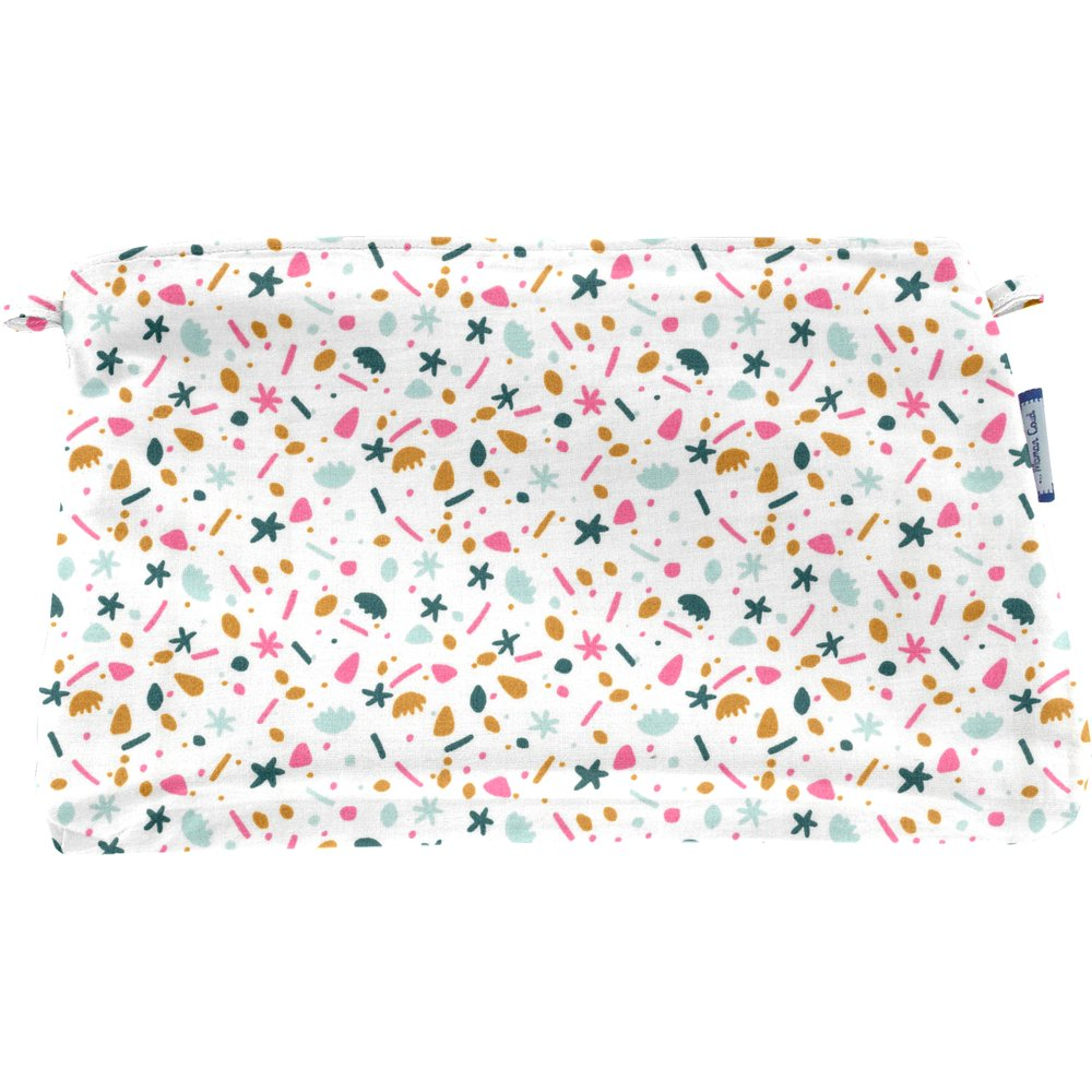 Coton clutch bag sea side