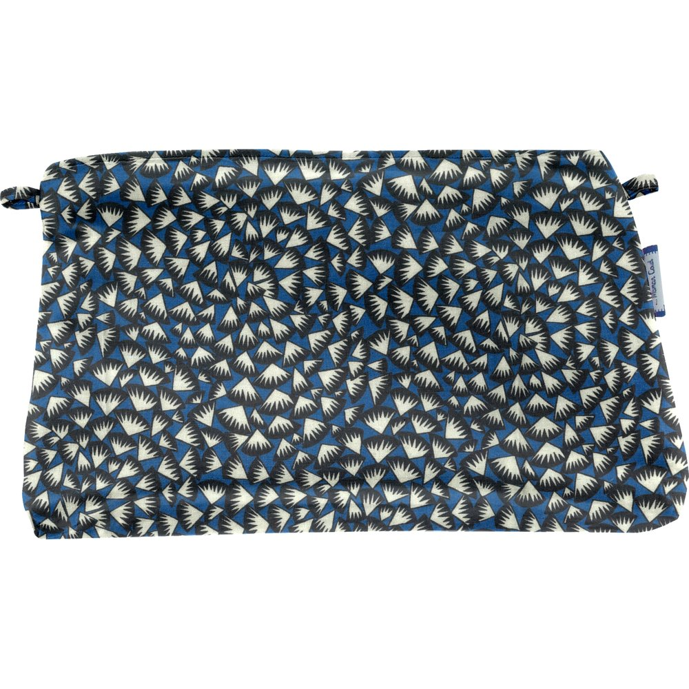 Coton clutch bag parts blue night