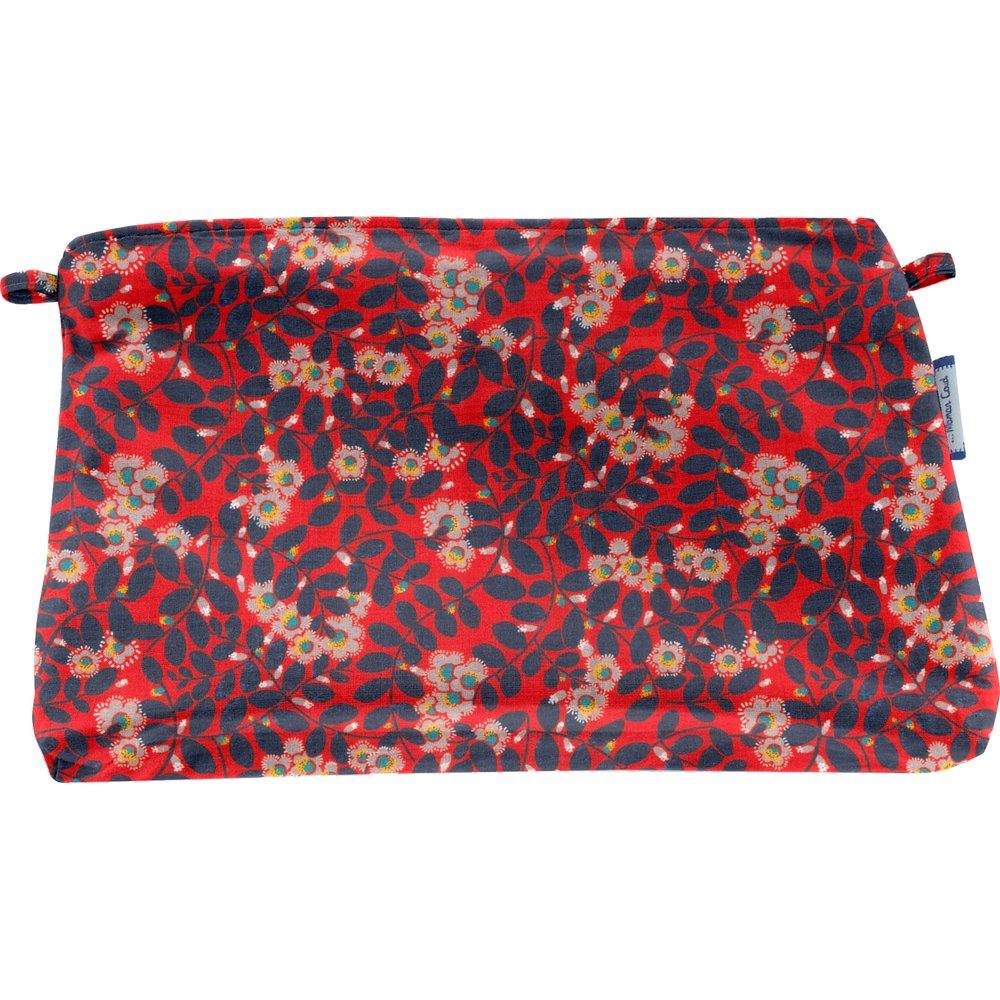 Coton clutch bag vermilion foliage