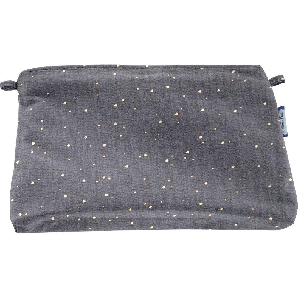 Coton clutch bag gauze gray gold
