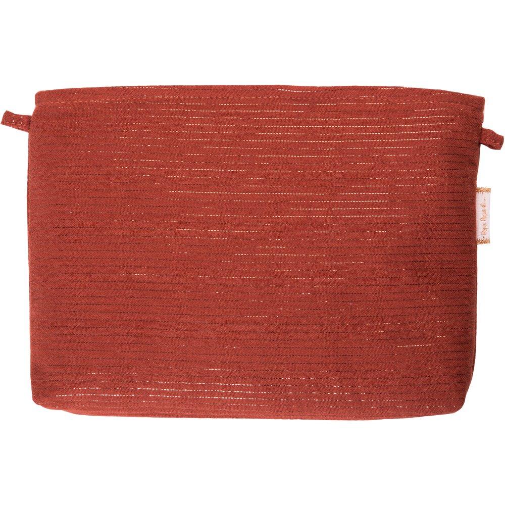 Pochette tissu gaze lurex terracotta