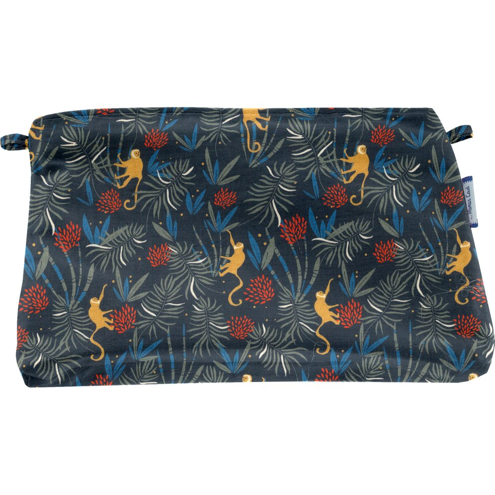 Pochette tissu jungle party