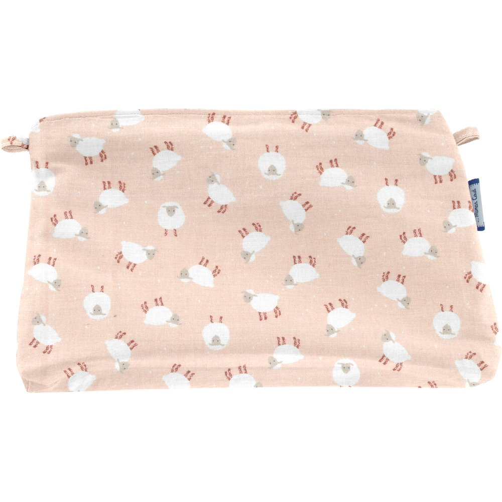 Coton clutch bag pink sheep