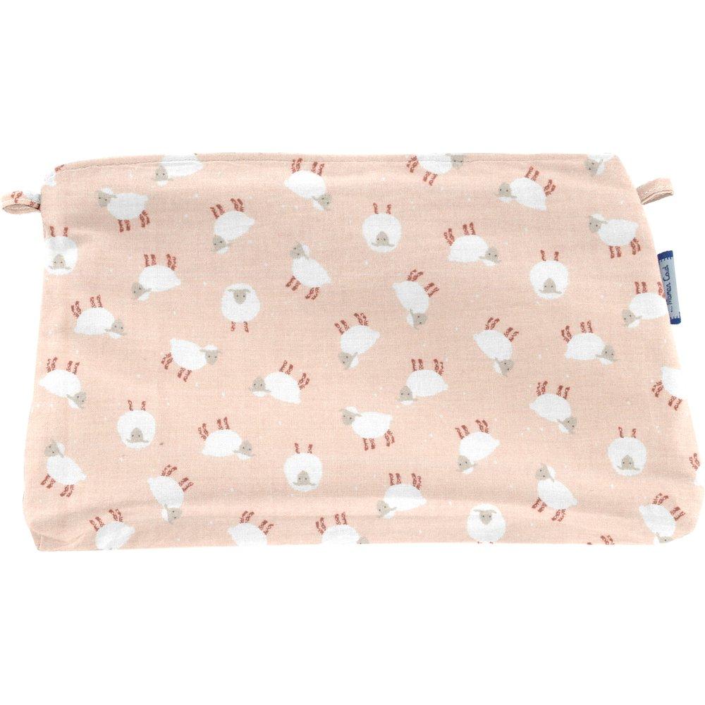 Pochette tissu mouton rose