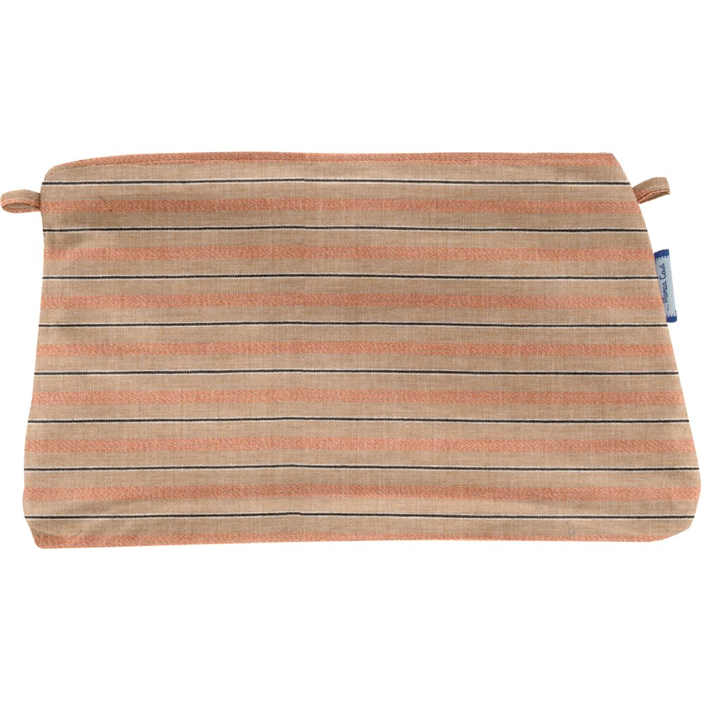 Coton clutch bag bronze copper stripe