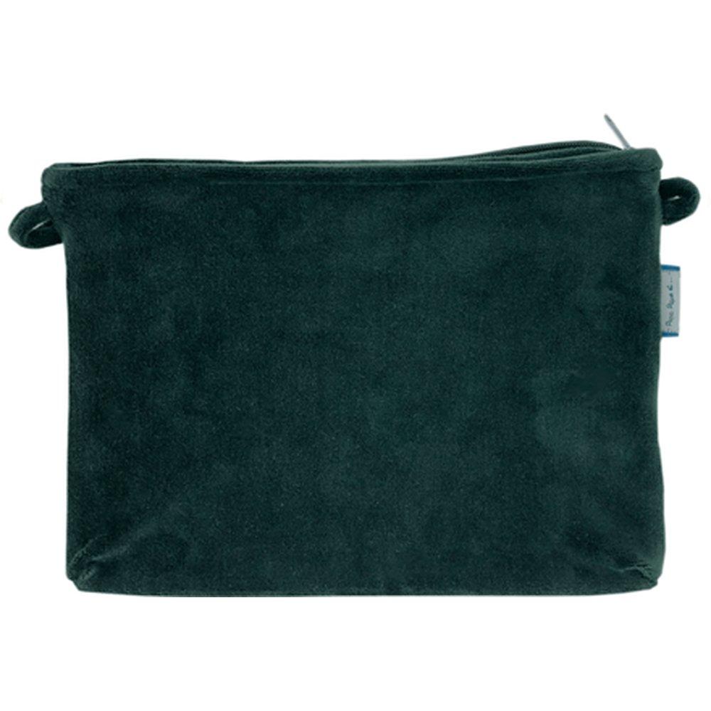 Coton clutch bag green velvet