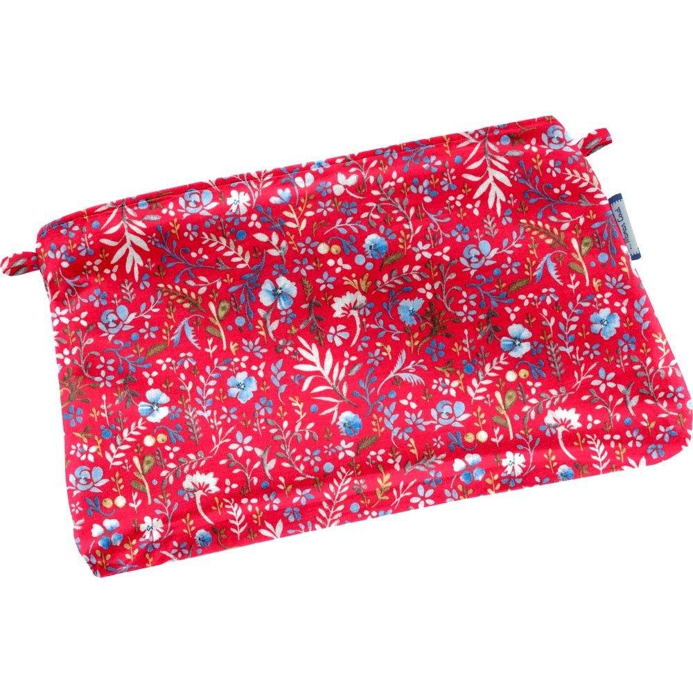 Tiny coton clutch bag cherry cornflower
