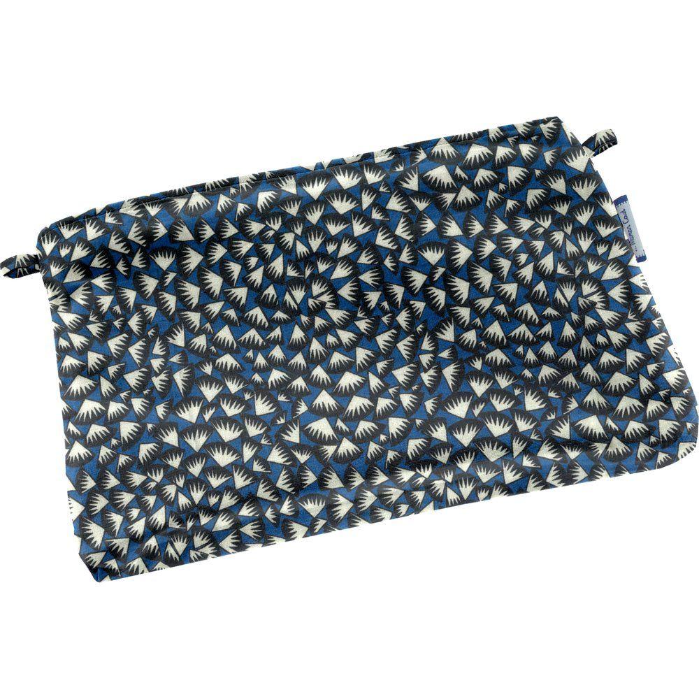 Tiny coton clutch bag parts blue night
