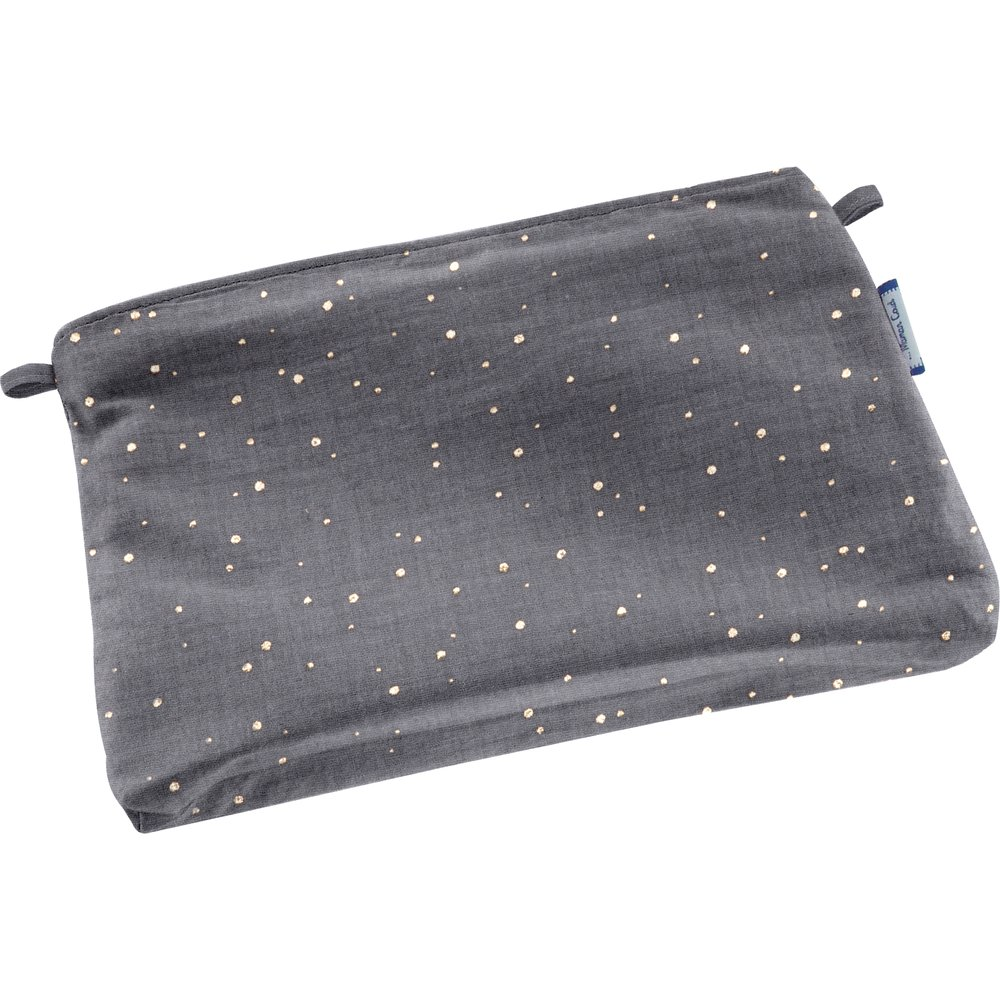 Tiny coton clutch bag gauze gray gold