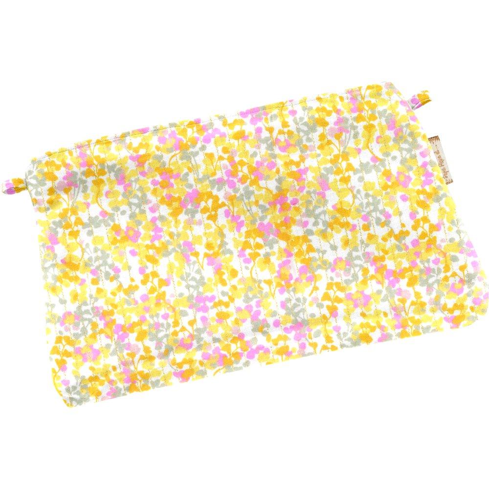 Tiny coton clutch bag mimosa jaune rose