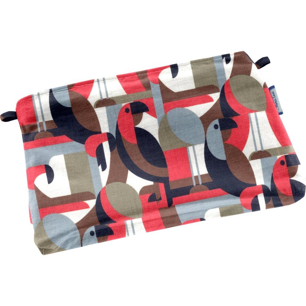 Mini pochette tissu oiseau pop