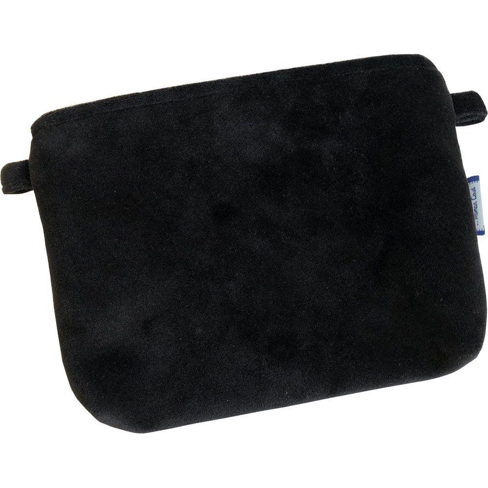 Tiny coton clutch bag black velvet