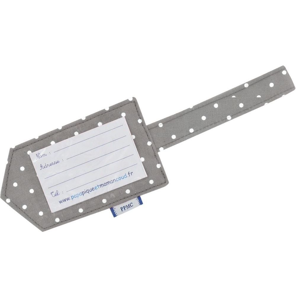 Luggage Tag light grey spots