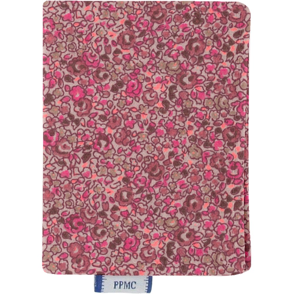 Porte carte lichen prune rose
