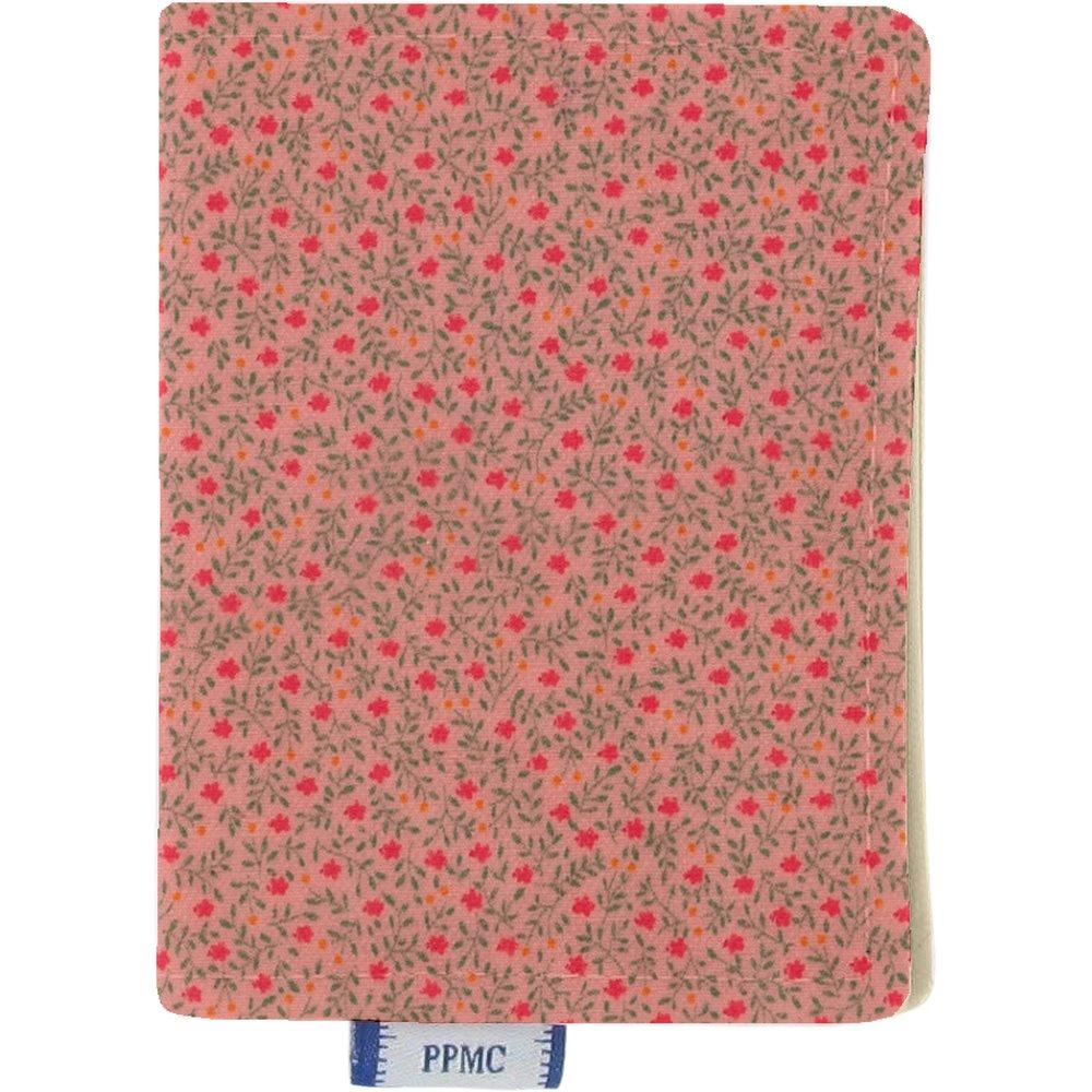 Porte carte mini fleur rose