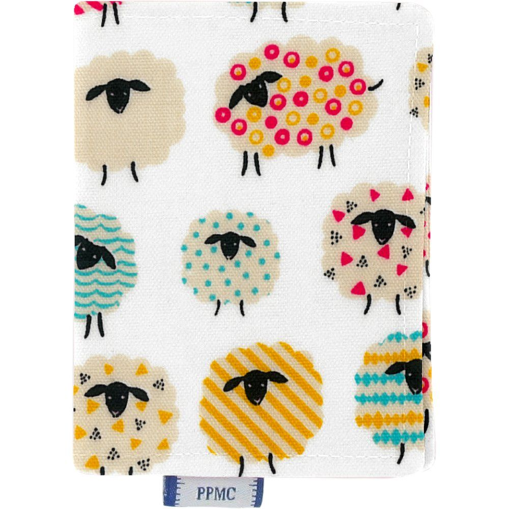 Porte carte mouton multicolore