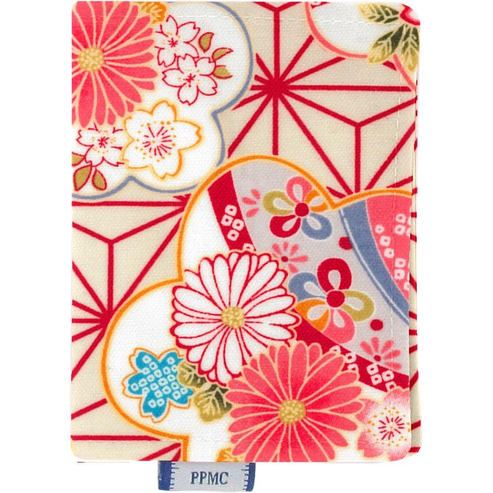 Porte carte  origamis fleuris