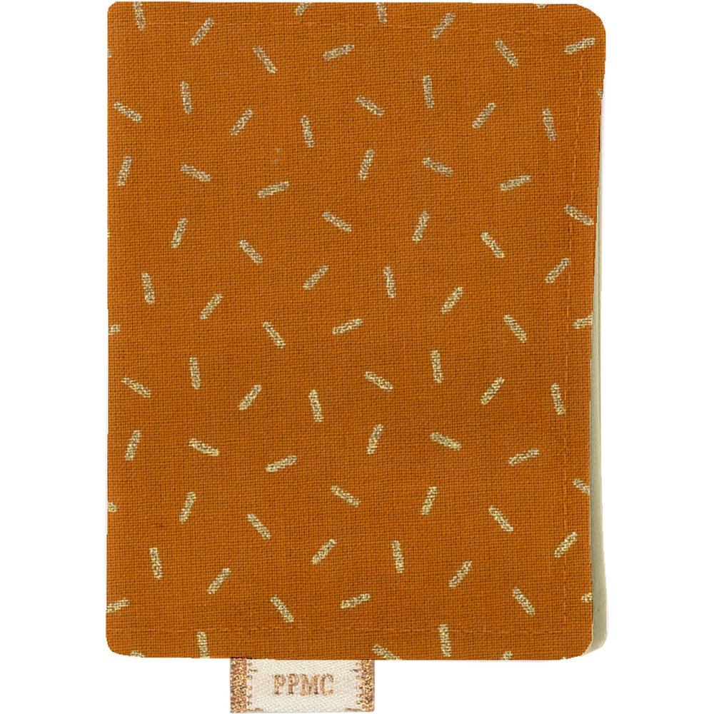 Porte carte paille dorée caramel