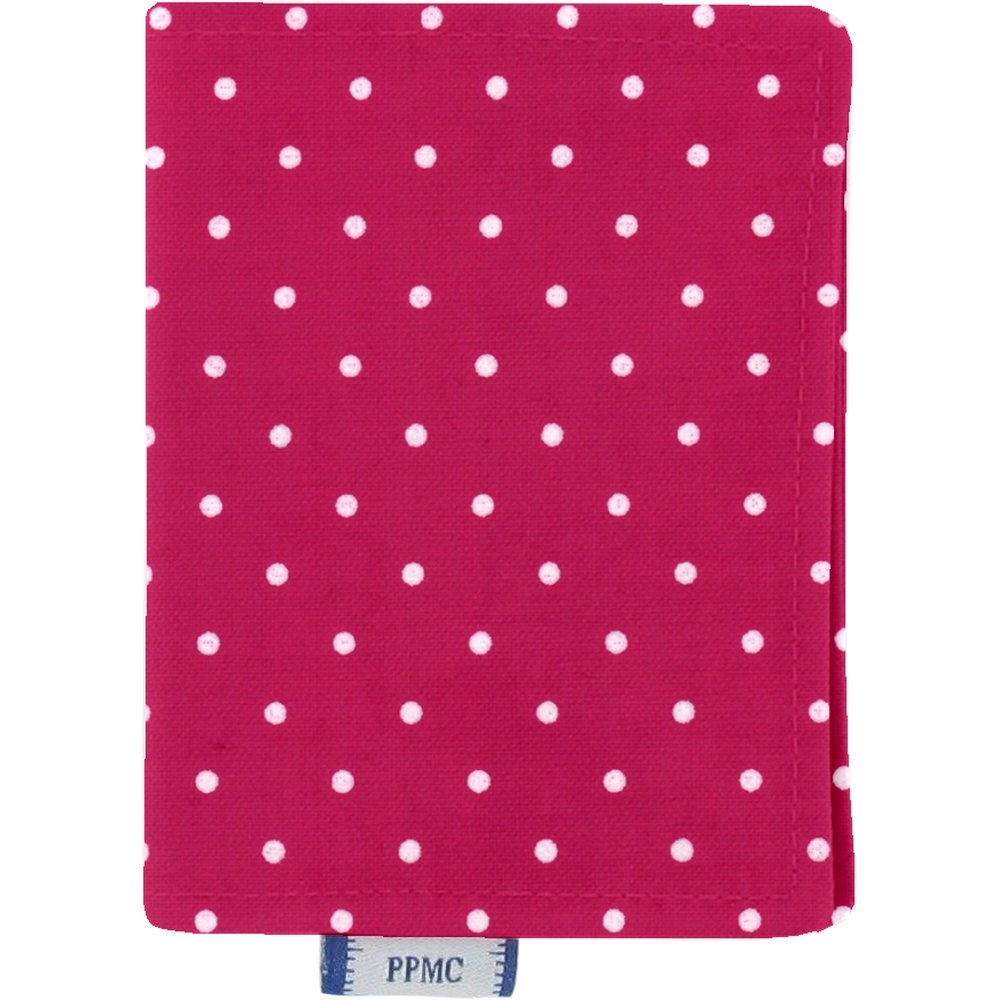 Card holder fuschia spots