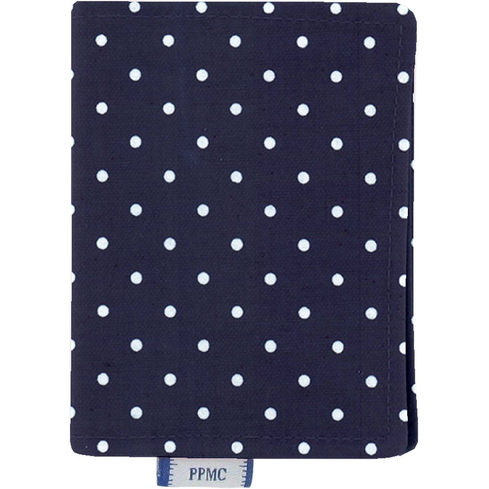 Card holder navy blue spots