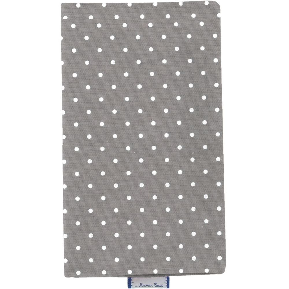 Chequebook cover light grey spots