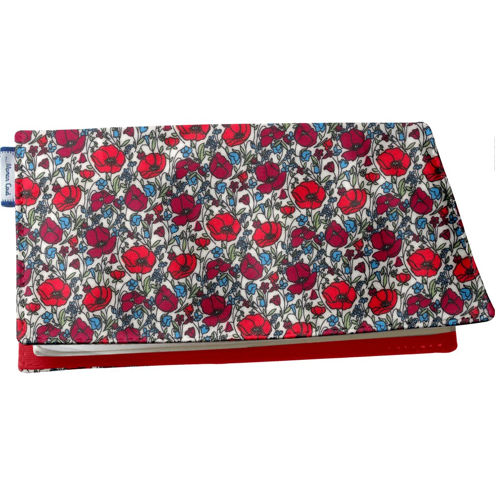 Chequebook cover poppy