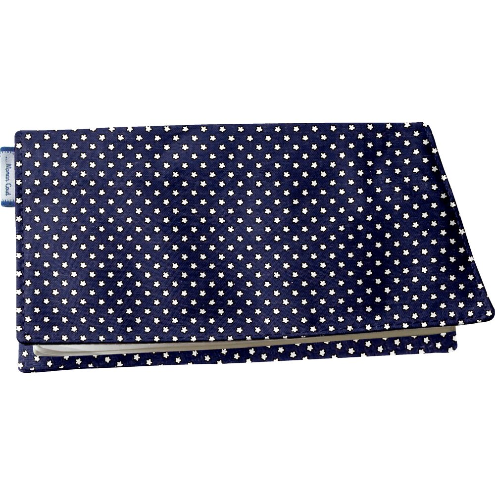 Chequebook cover navy gold star