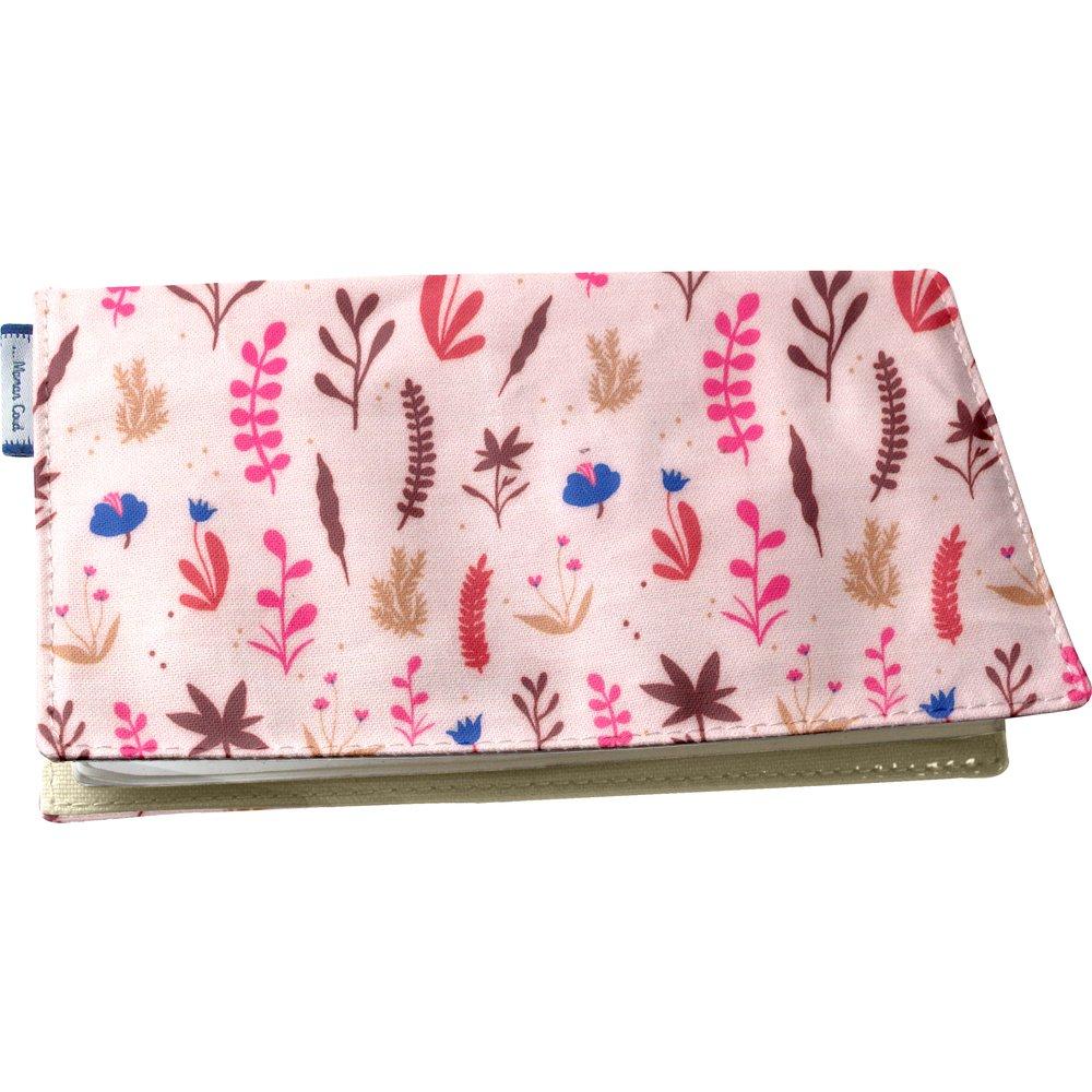 Porte chéquier herbier rose