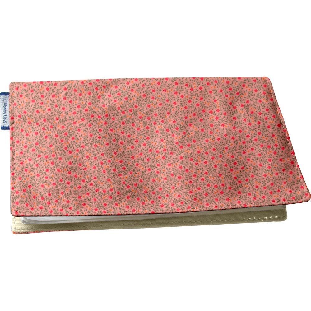 Porte chéquier mini fleur rose