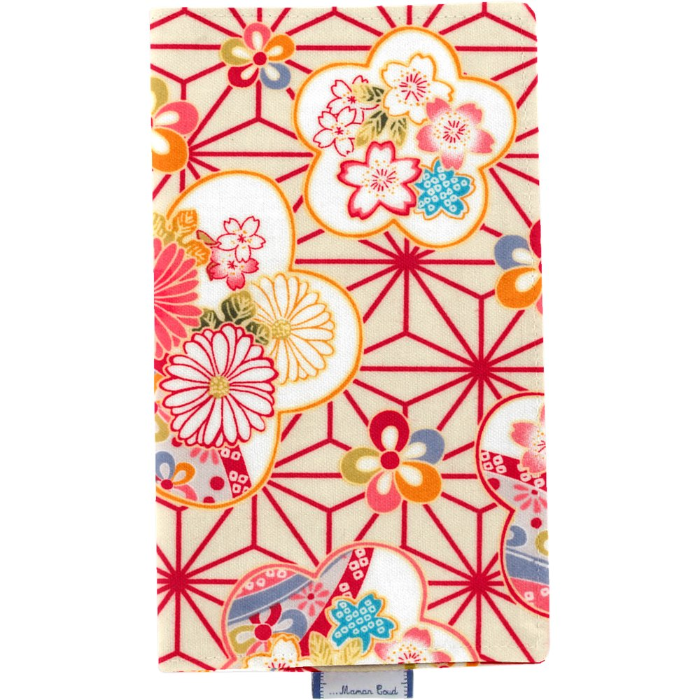 Porte chéquier  origamis fleuris