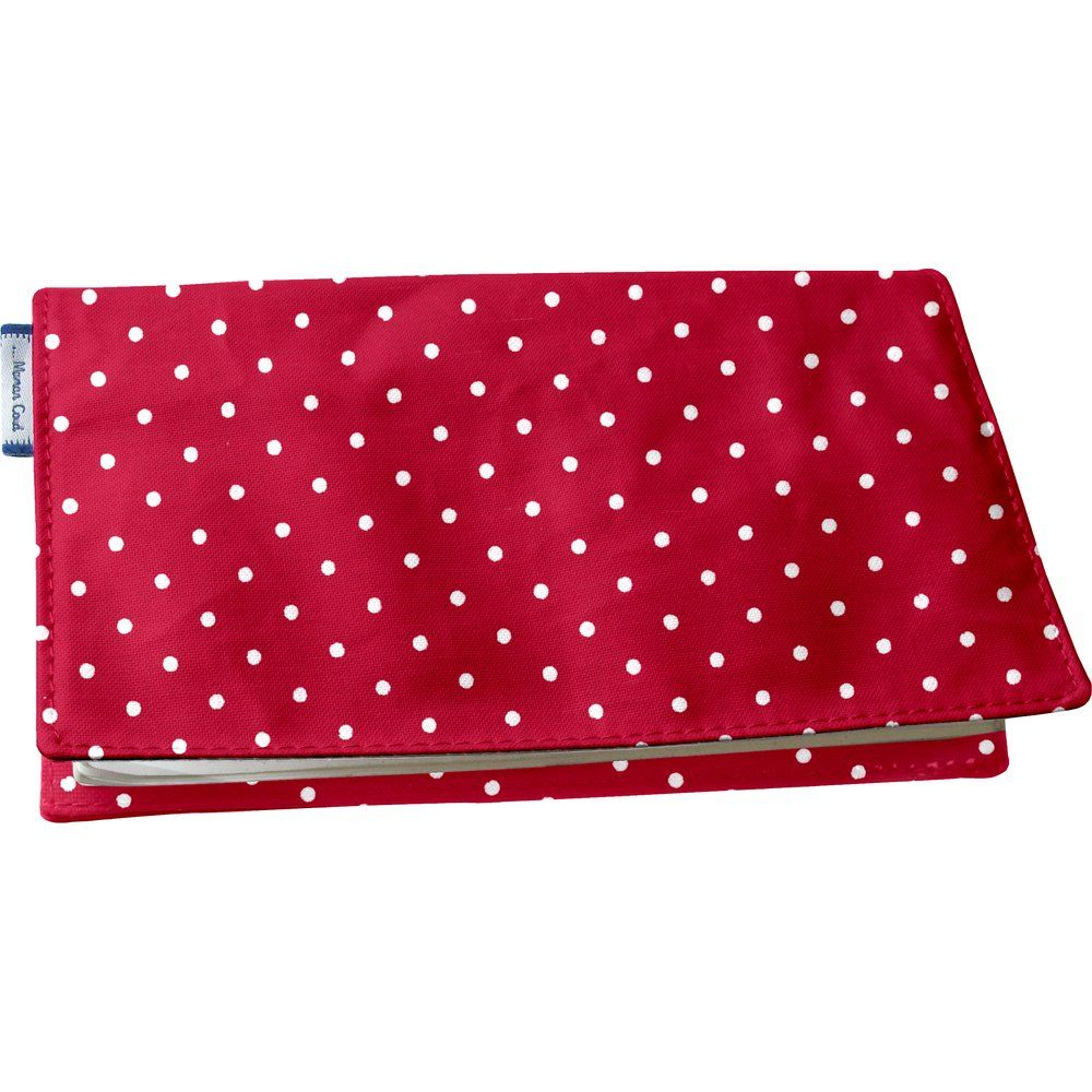 Chequebook cover red spots