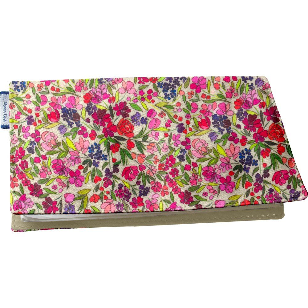 Chequebook cover purple meadow