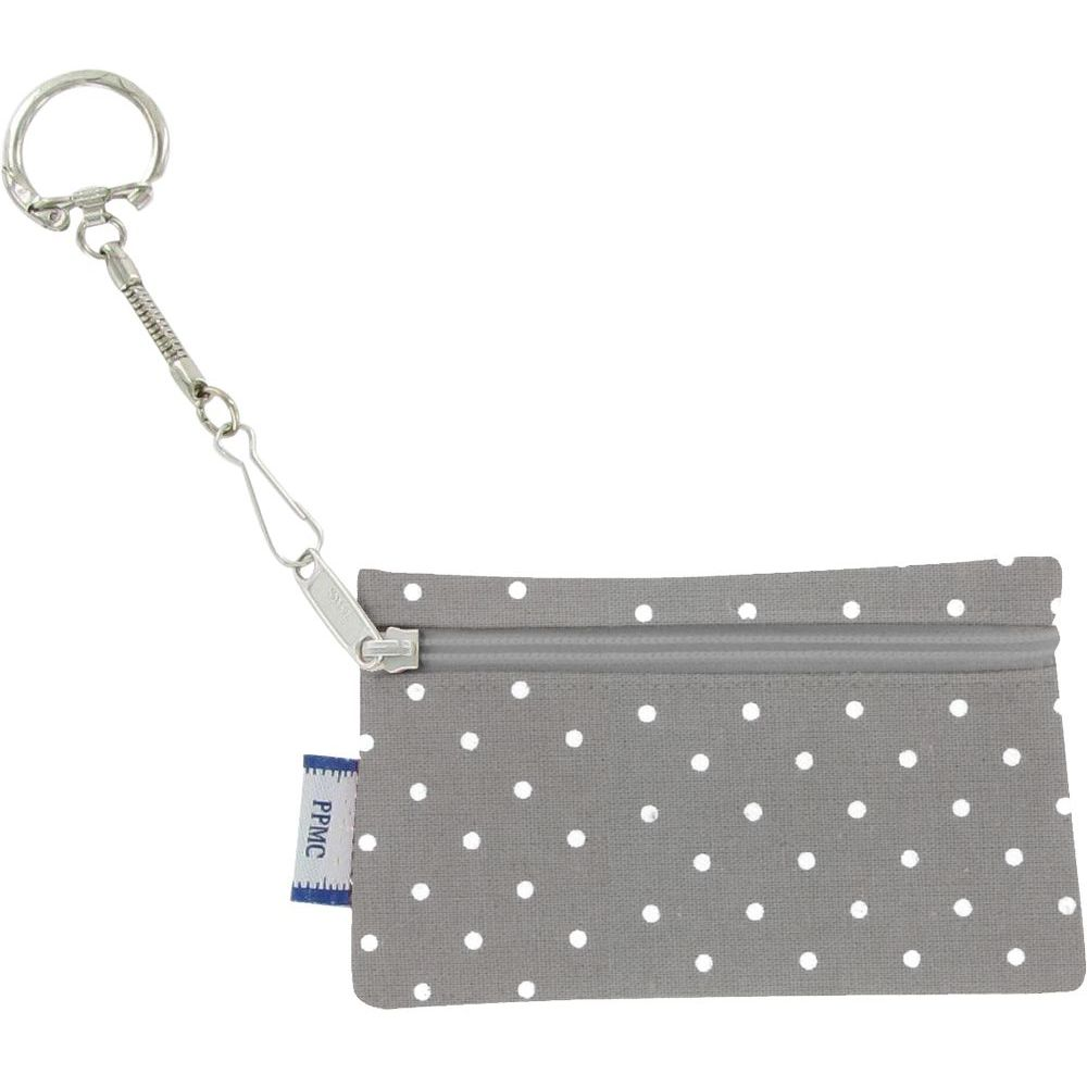 Keyring  wallet light grey spots